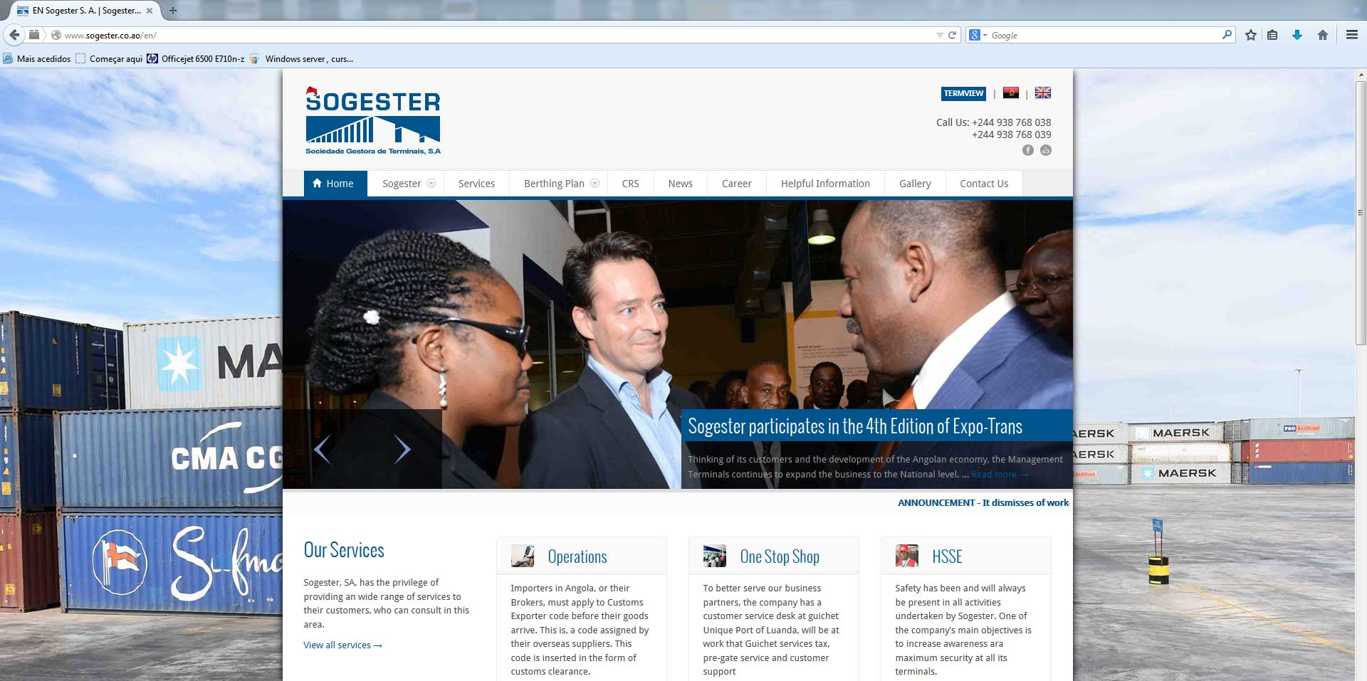 Website da Sogester desenvolvido por Loneus - Soluções em Informática, Lda.